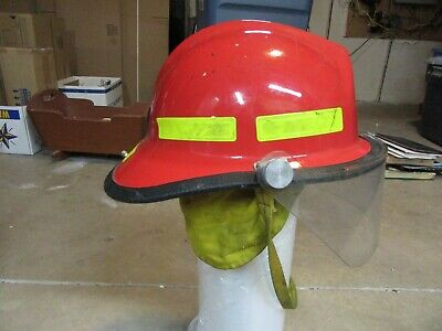 Firefighter Bunker Turnout Shield Morning Pride 72 Plus Red Fire Helmet Rescue