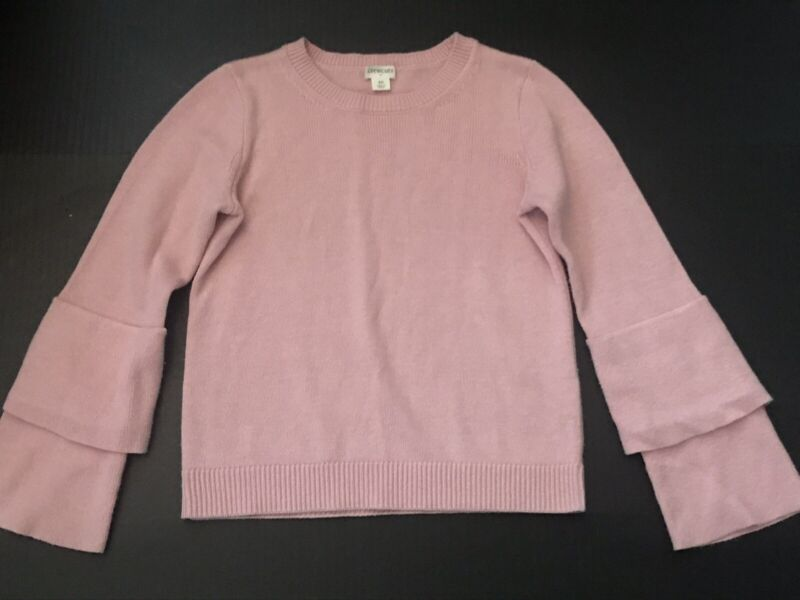 CREWCUTS •Girls 10• FALL 18 Pink Cotton Pullover Sweater Bell Sleeve