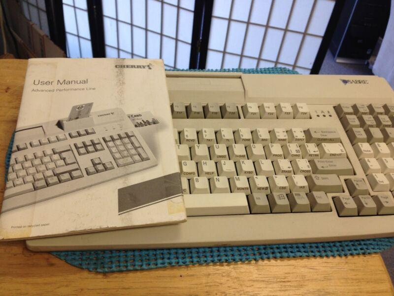 Cherry Card Reader Scanner Keyboard PS2 SABRE model MY-7000