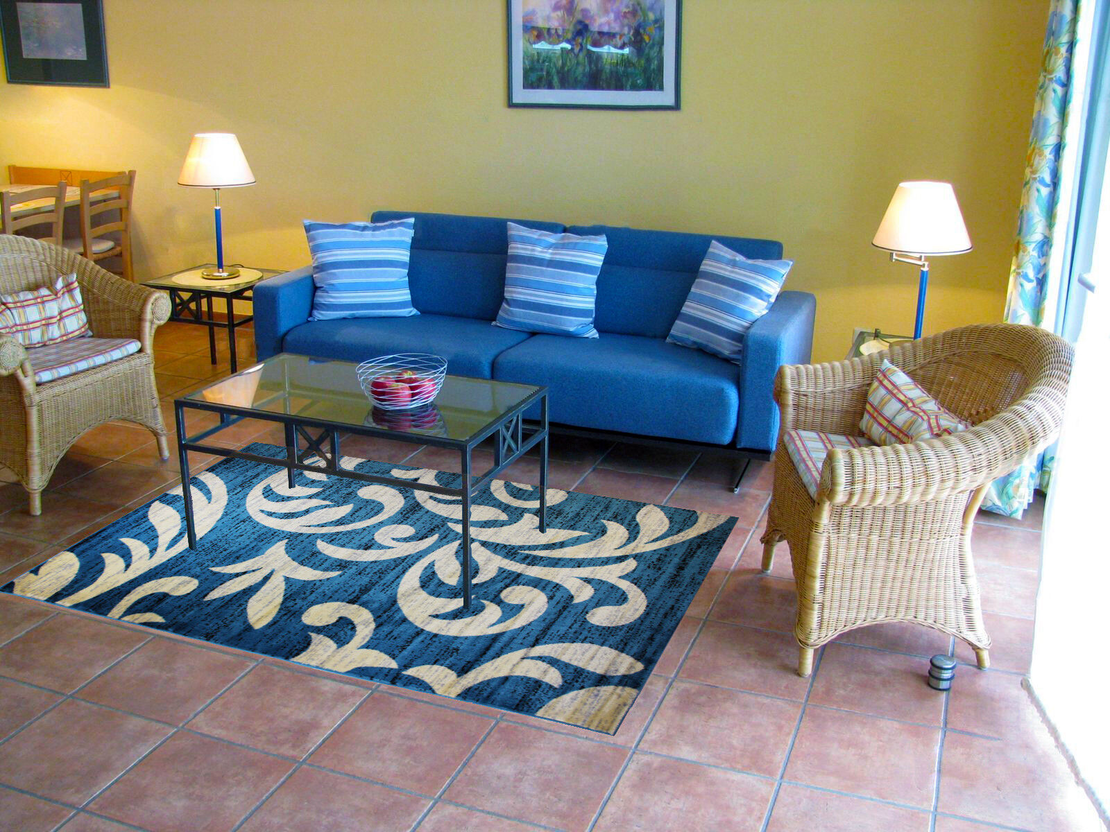 Rug Carpet Pad for Living Room Protects Floor From Dust - Mu