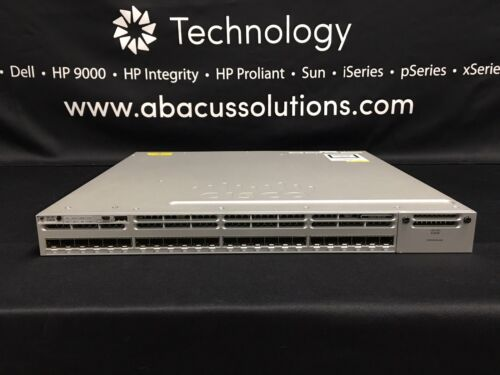 Cisco Ws-c3850-24s-s Catalyst 3850 24 Port Ge Sfp Ip Base Switch 1yr Warranty