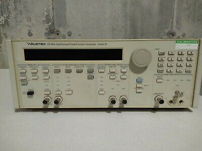 Wavetek Model 91 20 Mhz Synthesized Pulse Function Generator