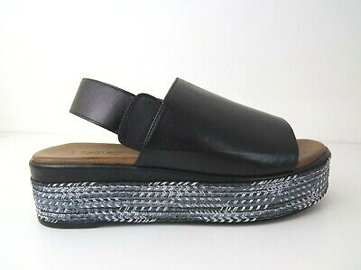 New INUOVO ladies summer sandals, shoes black Leather platform , uk3,4,5,6,7,8