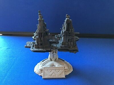 Nostromo towing Refinery from Alien . 3D-printed. Painted W/Base 1/10000 Scale