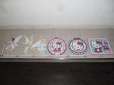 6 Stück Kinder Wandtattoo Disney Prinzessinnen/Hello Kitty KinderzimmerAufkleber ()