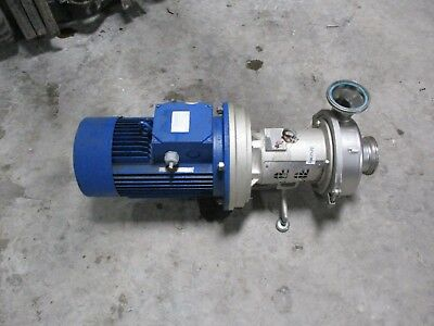 Hilge 4 12 Stainless Sanitary Pump With Motor 11131241c Used