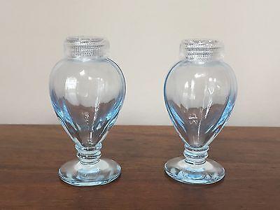 Depression Glass FAIRFAX BLUE Salt & Pepper by Fostoria