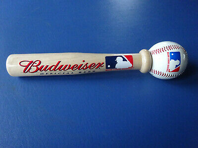 Officail Budweiser Baseball Bat & Baseball, Major League Baseball Beer Tap