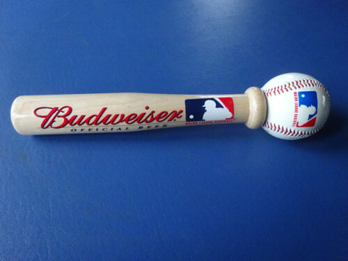 Officail Budweiser Baseball Bat & Baseball, Major League Baseball Beer Tap