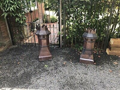 A Pair Of Large  Salt Glazed Chimney Pots A  Great Garden Ornament 3ft  Tall