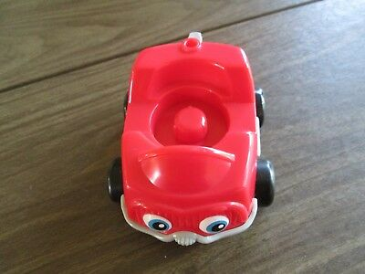Fisher Price Mattel 2001 Little People Red and Gray Car, VGUC
