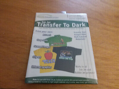 Transfer 8-1/2-Inch by 11-Inch Magic Ink Jet Transfer Paper for Dark