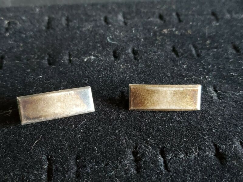 MATCHING PAIR OF WWII, US ARMY LIEUTENANT BARS, BALFOUR STERLING SILVER NICE!!