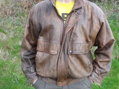 Vintage Mens Leather Jacket