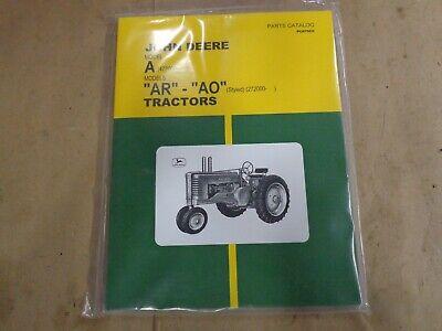 John Deere Model A Ar - Ao Styled Parts Manual Catalog