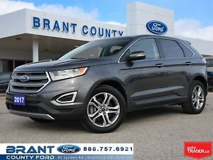 2017 Ford Edge Titanium - CLEAN CARPROOF, BACK UP CAMERA!