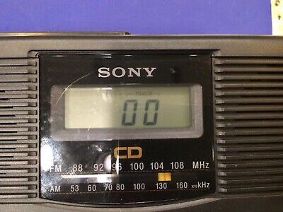 Sony AM/FM radio / CD player alarm clock model ICF-CD810