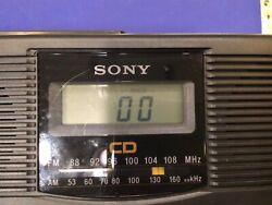 Sony AM/FM radio / CD player alarm clock model ICF-CD810