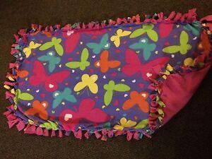 Butterfly handmade fleece blanket
