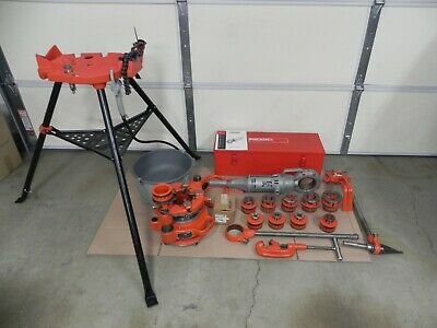 Ridgid 700 Power Threader 115v12r Set Rigid 141 Head18 To 4 Stand More