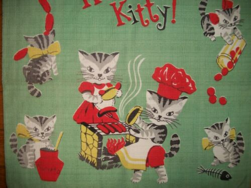 Vintage Cat Towel