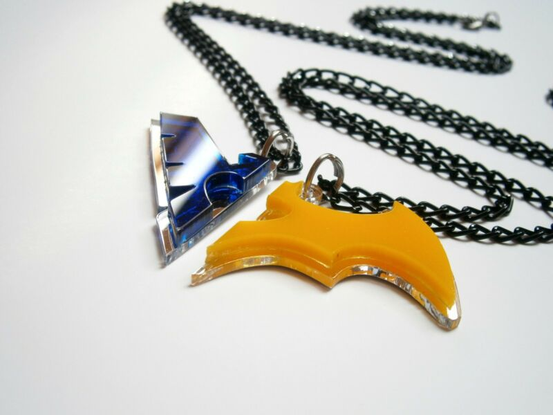 Friendship Nightwing Batwoman Necklaces – Blue And Yellow Acrylic