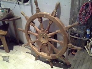 Barre de gouvernail originale de 48 po. en bois de Teck