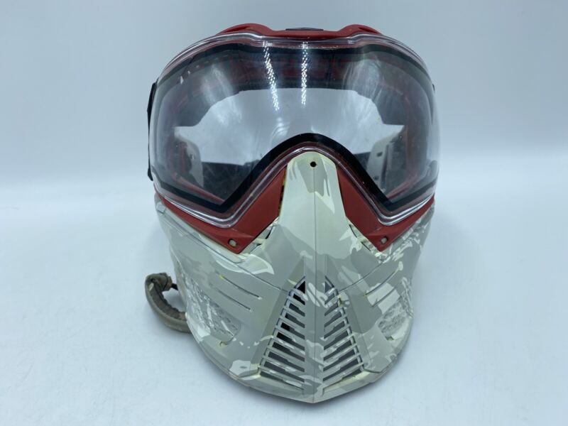 Push Unite Paintball Mask - LE White Camo Air Ups Angels W/ Extra Lens