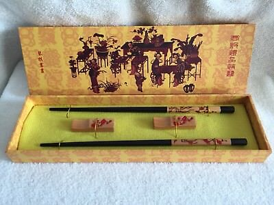 Japanese Chopsticks Boxed Set for Two with Rests
