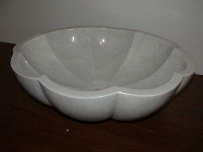 Angel oval flower polished basin bathroom natural marble stone sink