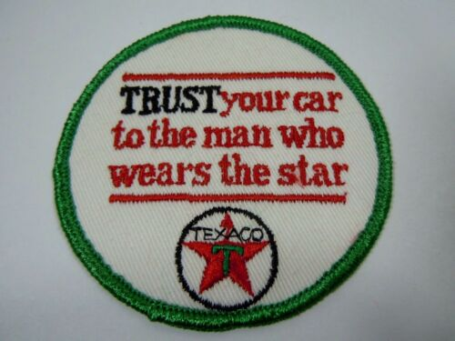 "Vintage TEXACO ""Trust Your Car"" Embroidered Sew On Uniform-Jacket Patch 3"""