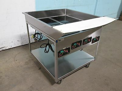 Mr Induction Heavy Duty Commercial.electric Induction Warmers On S.s. Cart