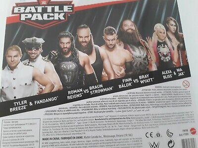 WWE Mattel Battle Pack Series 54:Breezango,Reigns&Strowman,Balor&Wyatt,Bliss&Jax