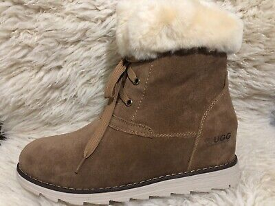 Clearance /Ever UGG Australia - Women's lace-up Boots -Vivianna -chestnut -US 7.