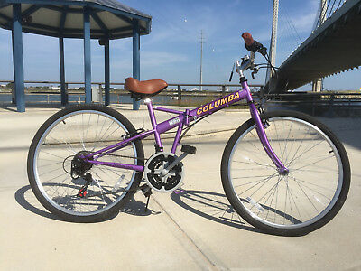 "NEW COLUMBA 26"" Folding Bike Shimano 18 speed Purple color (SP26S_LVD)"
