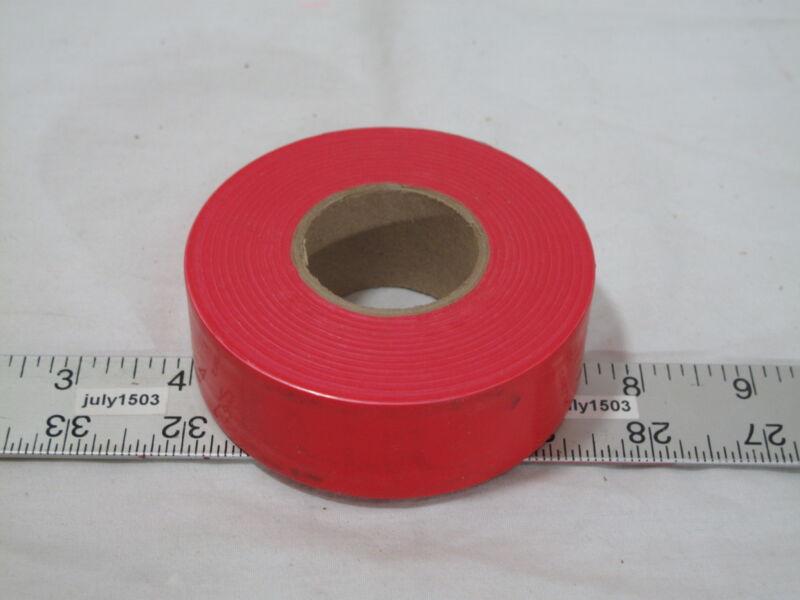 """(1) roll Red Flagging Tape 1-3/16"""" x 300"""