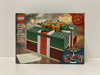 LEGO 40292 Holiday Christmas Gift Box Sealed 301 Pieces Tree Fire Place Train