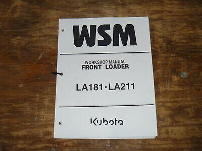 Kubota La181 La211 Front Loader Shop Service Repair Manual