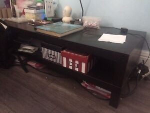 IKEA black coffee table / entertainment stand