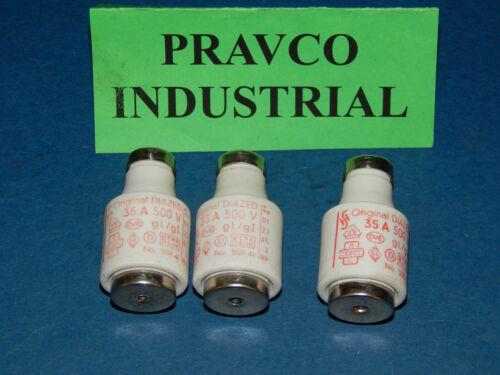 Lot of 3 Original Diazed 5SB-41 Fuse 35Amp 500Volt 5SB41