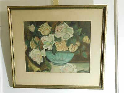 Floral Giclee Print Framed 17 1/4