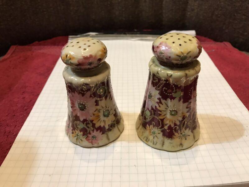 Vintage Flowered Salt & Pepper Shakers