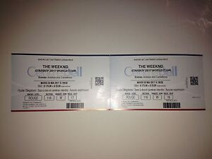2 TICKETS FOR THE WEEKND - RED SECTION