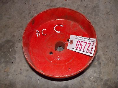 Allis Chalmers C Tractor Ac Real Nice Original Steel Flat Belt Pulley