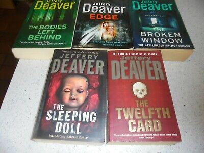 6  JEFFREY DEAVER BOOKS.
