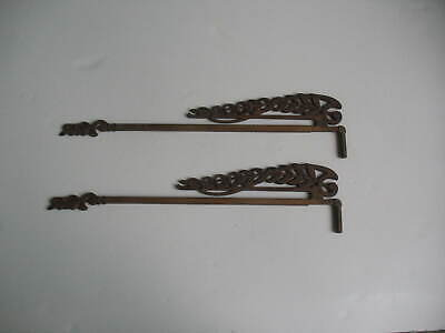 Cast Iron Swing Arm Curtain Rods, Antique Swing Out Curtain Rods
