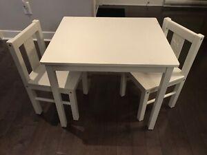 Table enfant Ikea avec 2 chaises
