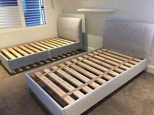 Designer King Size Single Bed Frames by Domayne Dalkeith Nedlands Area Preview