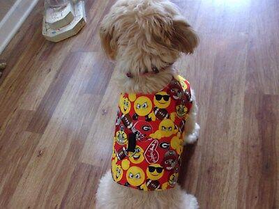 dog shirt vest,Univ. of Georgia Bulldogs, emoji,Medium*(read details for size)