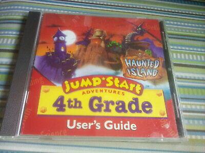 Jump Start Adventures 4th Grade:  Haunted Island (Vintage PC/Mac CD-ROM, 1996)